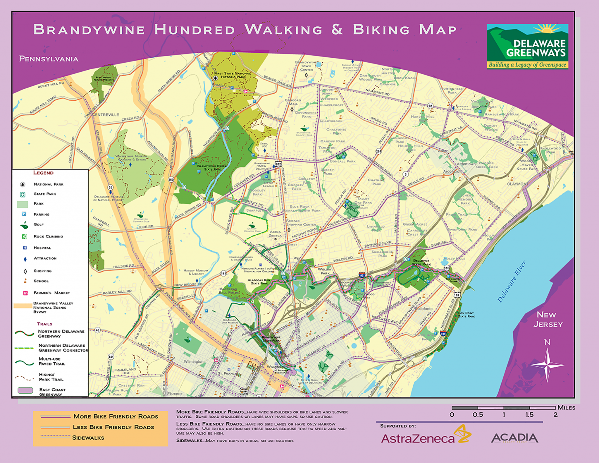 ndywine Hundred Walking Map - Delaware Greenways on